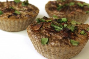 Mushroom Omelet Cupcakes