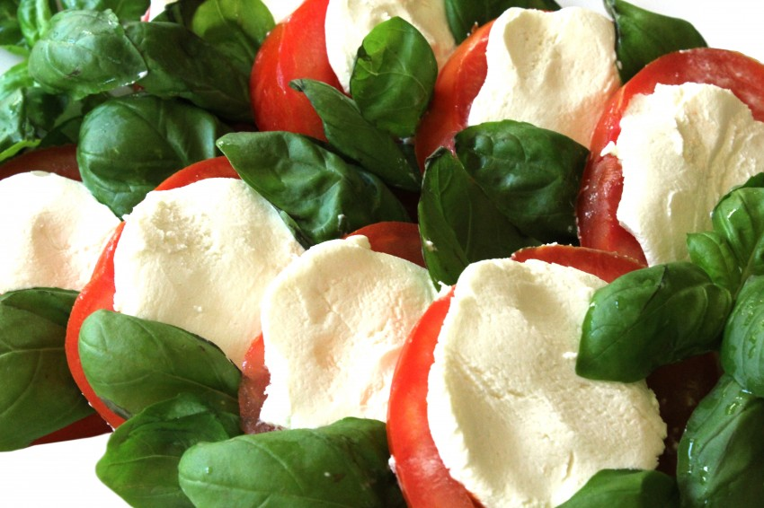 Goat Cheese Caprese Salad