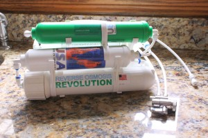 Countertop reverse osmosis filter