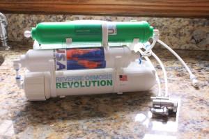 Countertop reverse osmosis filter