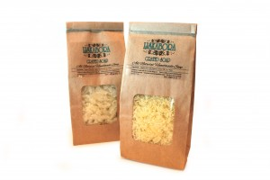 grated olive and coconut soap