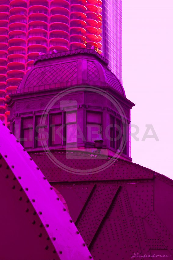 Chicago in Purple - Architectural Art