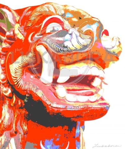 Guardian Lion Pop Art