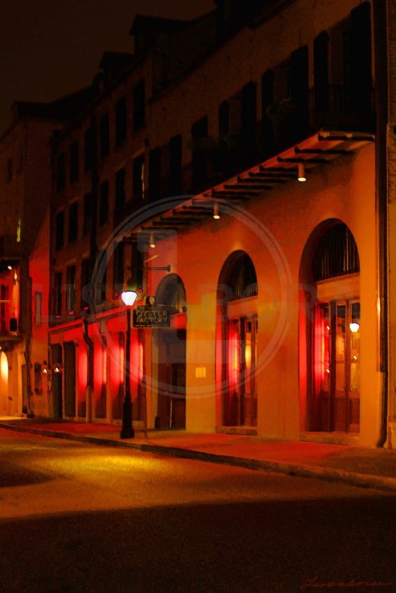 New Orleans in Red at Night