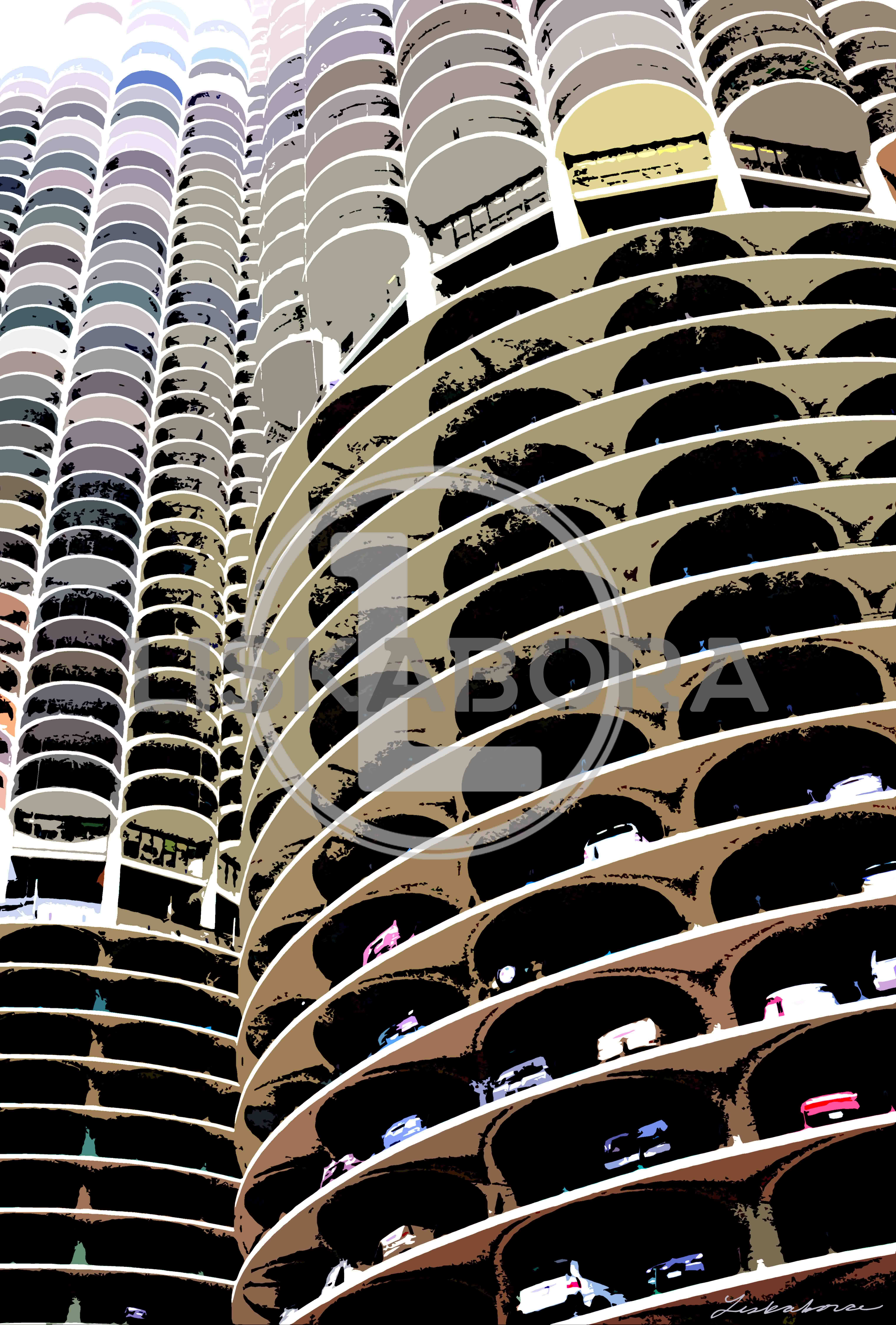 Chicago Marina Towers Architectural Art