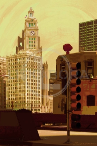 Chicago River Bridge and Tribune Tower Chicago