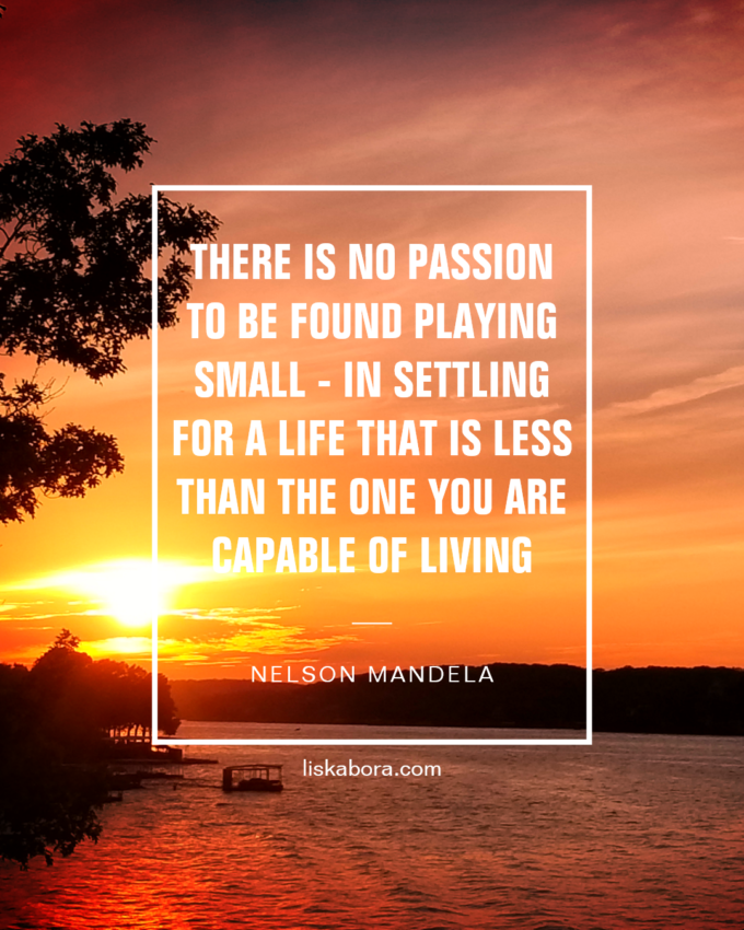 nelson mandela quote - never settle for less than you are capable of doing
